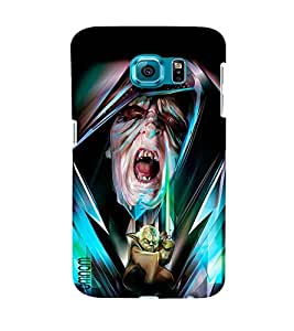 Omnam Cartoon With Horror Effect Desinger Back Cover Case For Samsung Galaxy S6 EDGE
