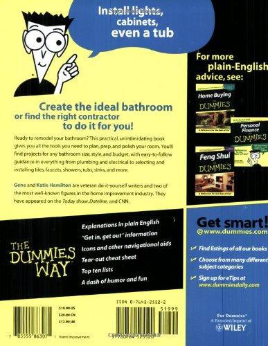 Bathroom Remodeling For Dummies Hardware Tools Masonry
