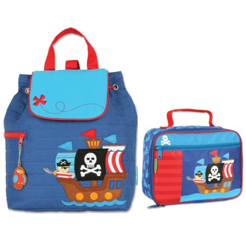 Stephen Joseph Quilted Pirate Backpack And Lunch Box Combo - Toddler Backpacks - Preschool Backpacks front-928868