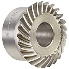 "Boston Gear SS192-G Spiral Bevel Gear, 2:1 Ratio, 0.500"" Bore, 19 Pitch, 26 Teeth, 35 Degree Spiral Angle, Steel"