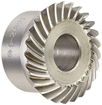 """Boston Gear SS192-G Spiral Bevel Gear, 2:1 Ratio, 0.500"""" Bore, 19 Pitch, 26 Teeth, 35 Degree Spiral Angle, Steel"""