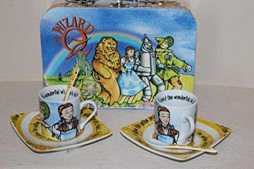 Wizard of Oz 3 Oz. Espresso Cups, Saucer & Spoons - Set of 2 Cups (3 Oz Espresso Cups And Saucers compare prices)