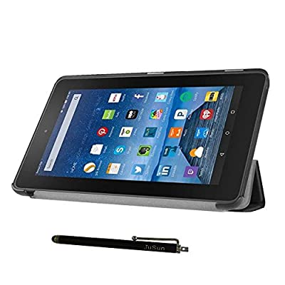 """Amazon Fire 7 2015 Case, ultra-thin Smart stand Case Cover With Stylus For Amazon Fire 7"""" Display (5th Generation - 2015 release) by JuSun"""