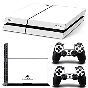 GoldenDeal PS4 Console and DualShock 4 Controller Skin Set - White Color - PlayStation 4 Vinyl Colour