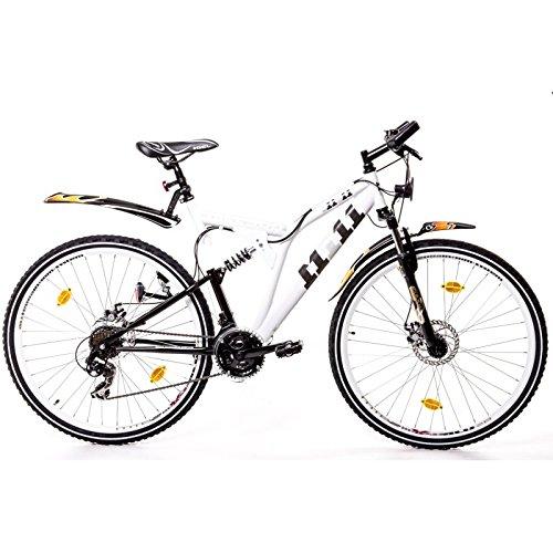 28er-Fully-Trekking-Mountain-Bike-Scheibenbremsen-Fahrrad-Velo-Rad-weiss