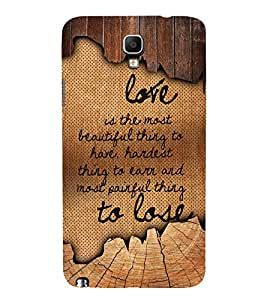 Love Is The Most Beautiful 3D Hard Polycarbonate Designer Back Case Cover for Samsung Galaxy Note 3 Neo N7505