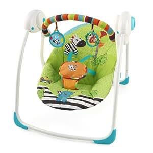 Bright Starts 60026 Babyschaukel Zoo Tails, portable