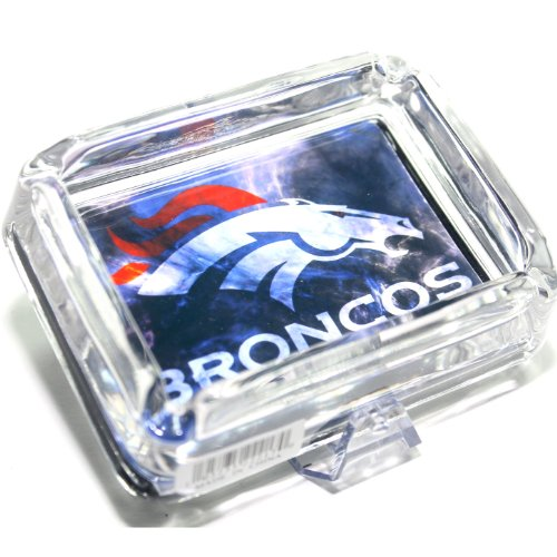 NFLS3-Gift Set - Denver Broncos Glass Ashtray + Team Lighter with Tin Gift Box -... by Ashtrays