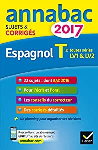 """Afficher """"Espagnol terminale toutes séries, LV1 & LV2"""""""