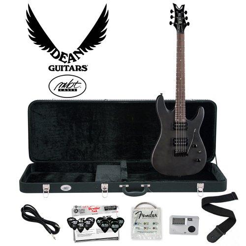 Dean Vendetta XM with Tremolo Trans-Black Satin (VNXMT-TBKS) Electric Guitar Kit - Includes: Cable, Strings, Tuner, Strap, Planet Waves 12-Pick Shredder Pack & Hard Case