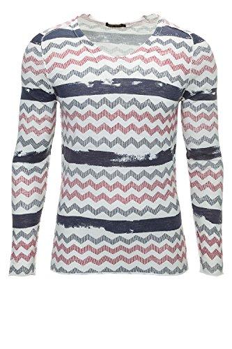 Antony Morato Pullover Uomo Maglione Sweater Slim Fit Panna (Col. 1001) L