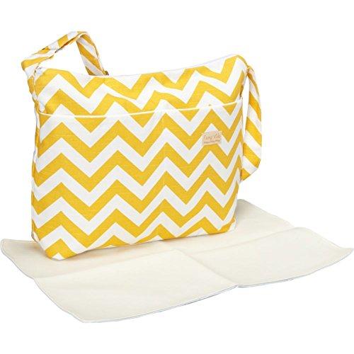 Foxy Vida Diaper Bag, Yellow Chevron
