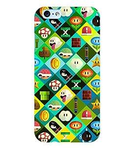 Printvisa Premium Back Cover Multicoloured Cartoonish Pattern Design For Apple iPhone 6
