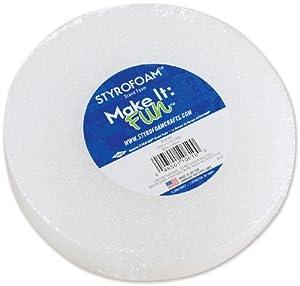 Floracraft 1-3/16 Inch x5-7/8 Inch Styrofoam Disc - 1PK/White