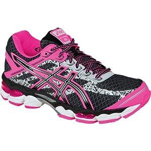 ASICS Women's GEL-Cumulus 15 Lite-Show Running Shoe,Black/Onyx/Flash Pink,8 M US