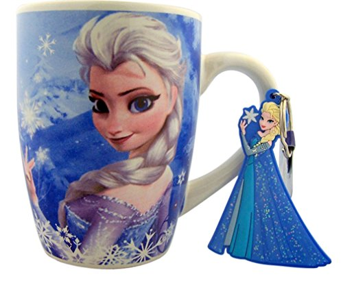 Disney'S Frozen Gift Set Princess Elsa 10 Ounce Ceramic Mug With Pvc Key Ring