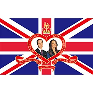 Royal Wedding William and Kate Large Flag 5ft x 3ft T1