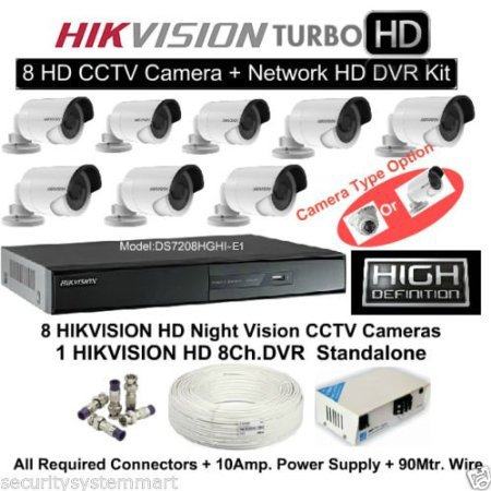 23dd72ea551 Buy Hikvision 8 CCTV Cameras (Night Vision)   8Channel DVR Standalone Kit  on Amazon