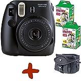 Fuji Instax Mini 8 Schwarz Sofortfilmkamera + Tasche + 40 Fo...