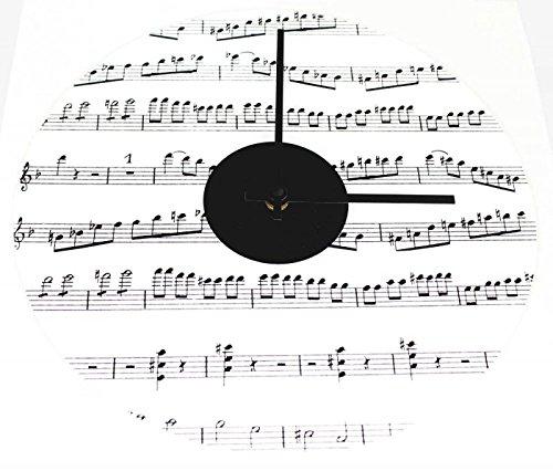 Wanduhr-Notenzeilen-Schnes-Geschenk-fr-Musiker