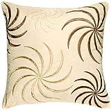 Swirl Faux Suede Cream Cushion Cover 45cms x 45cms