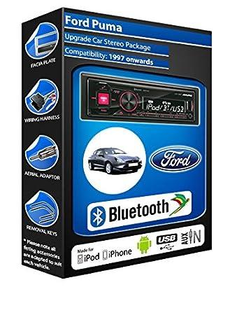 Ford Puma autoradio Alpine UTE 72BT-kit mains libres Bluetooth pour autoradio stéréo