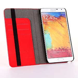 Poetic Flipbook Case for Samsung Galaxy Note 3 Note III Red (3 Year Manufacturer Warranty From Poetic)