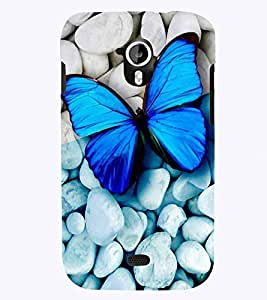 PrintVisa Animal Butterfly Colorful 3D Hard Polycarbonate Designer Back Case Cover for Micromax Canvas HD A116