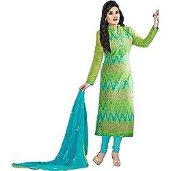ethnic bazaar parrot partywear salwar suit dress material