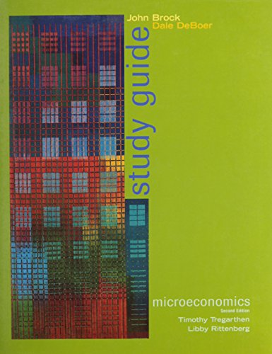 Microeconomics And Study Guide