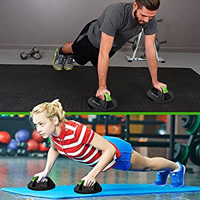 *SALE* Rotating No Slip Push Up Stands - Wide Contoured Grips for Max Comfort - Smooth Rotation Eliminates Wrist Strain - Perfect for Men & Women - Fitness Workouts, P90X, CrossFit - by SmarterLife®
