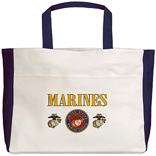 Royal Lion Beach Tote (2-Sided) Marines US Marine Corps Seal