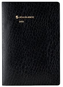 AT-A-GLANCE Recycled Monthly Planner, 7 x 10 Inches, Black, 2013 (70-432-05)