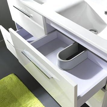 meuble double vasque vasque 4 tiroirs blanc laqu cuisine maison z372. Black Bedroom Furniture Sets. Home Design Ideas