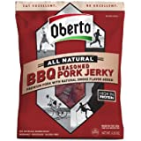Oh Boy! Oberto BBQ Pork Natural Style Jerky, 3.25-ounce Bags (Pack of 4)