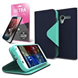 Cellto Premium Moto X Wallet Case with HD Screen Protector [Slim Ultra Fit] (...