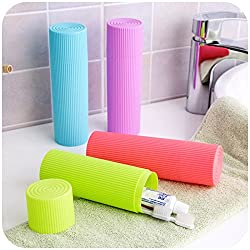 Travel Toothbrush & Toothpaste Holder (Assorted colors will be sent)