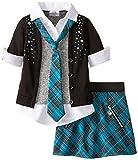 Beautees Little Girls Collar and Cuff Skirt Set