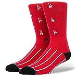 "Stance x MLB ""1955"" Los Angeles LA Dodgers Classic Crew Socks (Red) Men's Sock"