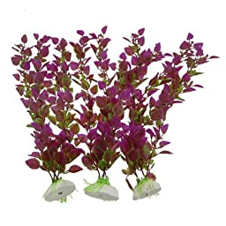 Green Amaranth Artificial Water Grasses for Fish Tank 3 Pcs
