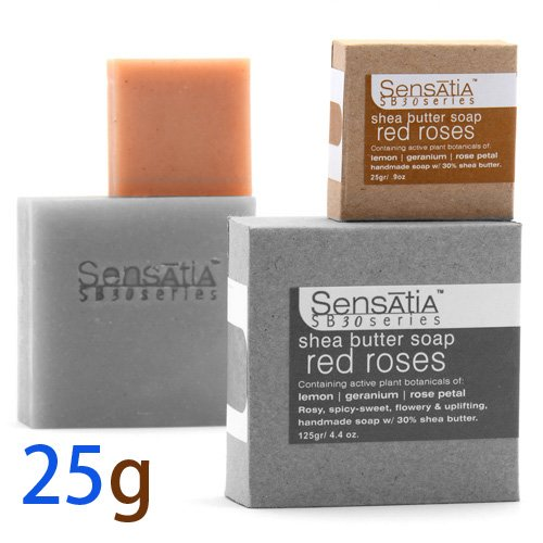 Sensatia センセイシャ シアバターソープ レッドローズ 25g