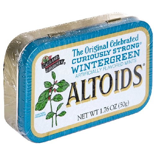 Altoids Wintergreen Mints 1.76 Ounce Tin (022000159342)