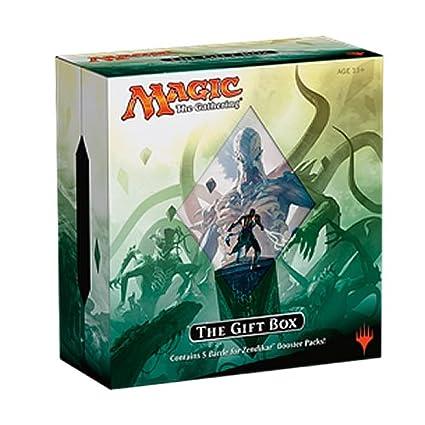 Amazon.com: MTG Magic the Gathering 2015 BFZ Battle For Zendikar HOLIDAY Gift Box - 5 booster packs + extras: Toys & Games