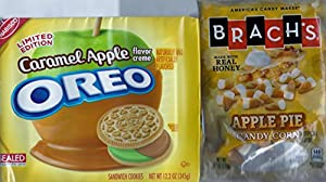 Caramel Apple Oreo and Brachs Apple Pie Candy Corn - 1 Pack of Each