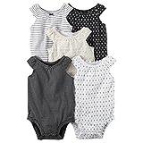 Carter's Baby Girls' Multi-PK Bodysuits 126g548, White, 24 Months (Color: White, Tamaño: 24 Months)