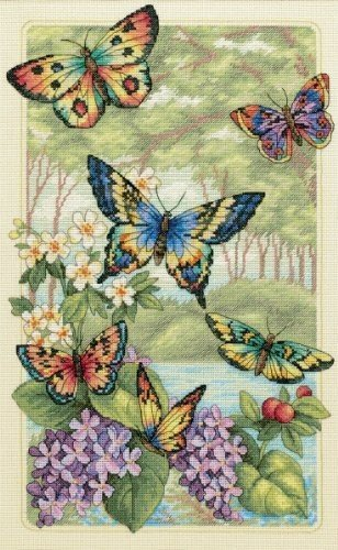 Dimensions Gold Collection Butterfly Forest Counted Cross St