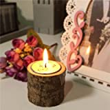 Tree Branch Rustic Candle Holder Wooden Timber Candlesticks Wedding Home Garden Decor Gift