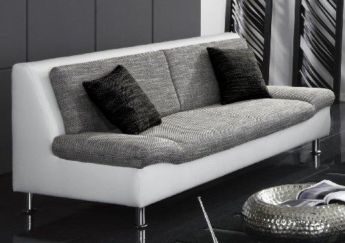 iovivo 3 sitzer sofa genua weiss grau hempels sofa. Black Bedroom Furniture Sets. Home Design Ideas