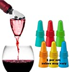 Metrokane Rabbit Wine Aerating Pourer with Bonus 2 Piece Stopper Set (colors may vary)