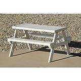 NEW Kid's Home & Garden Lightweight Outdoor/Indoor White Picnic Table